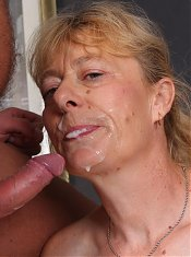 Pretty mature babe with a sexy fat ass Maria grinds her pussy on top and gets nasty cream in her gob