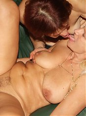 Experienced matures Paula and Remy set aside their differences to share a young cock