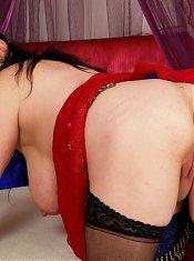 Get a look at this horny mature slut