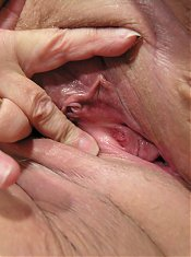 Huge titted mature slut playing with herself