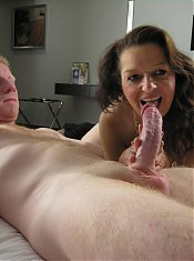 Mature slut sucking and fucking hard and long