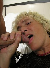 This kinky mother loves a hard cock to knibble on